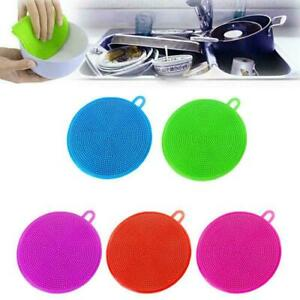 Amazing Silicone Dish Towel Kitchen Household Dish Cloth Random Color S3A4