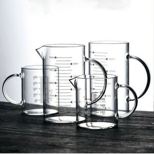 Glass Measuring Cups with Scale 250 500ml Coffee Pitcher Kitchen Baking Tools $13.44