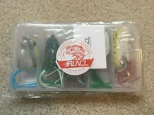 RUNCL Topwater Frog Lures Soft Fishing Lure Kit with 5 different frog lures