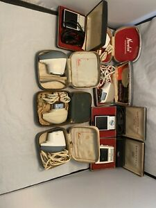 lot of 8 vintage electric shaver norelco Remington razors Tested