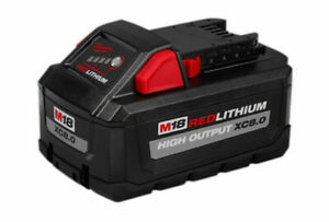 Milwaukee 48-11-1880 M18 Redlithium High Output 18V 8.0Ah Battery