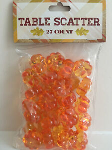 FALL THANKSGIVING PUMPKIN TABLE SCATTER 27 PIECES NEW $8.99