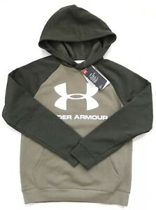 Under Armour Big Boys Rival Logo Hoodie Sweatshirt Color Green Size YMD $28.00