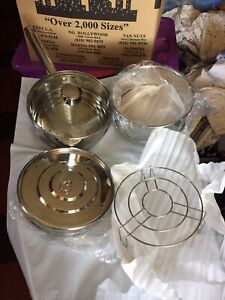 3-Wolfgang Puck Bistro Inserts /Steaming New