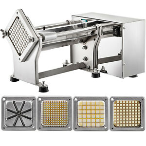 Electric Fry Cutter Electric Potato Cutter with 4 Blades French Fries Cutter