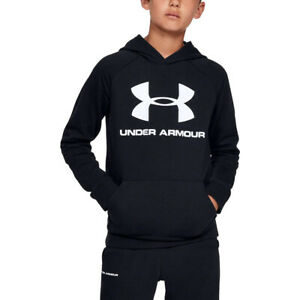 Boys 8 16 Under Armour Rival Fleece Logo Hoodie Black Size LARGE NEW W TAG $33.99