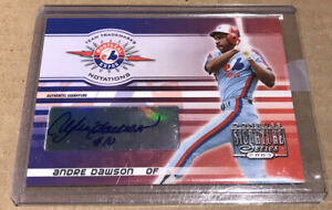 ANDRE DAWSON 2003 DONRUSS SIGNATURE SERIES, Auto AUTOGRAPH #44 250 The Hawk