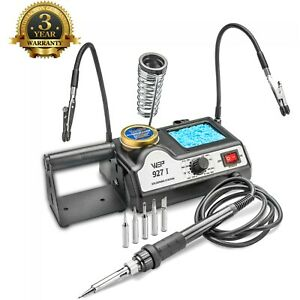 WEP 927 I ST Soldering Iron Station w 2 Helping Hands amp; 5 Extra Tips ESD Safe