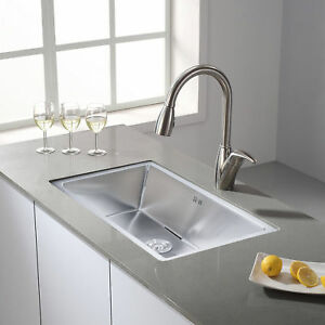 18 Gauge Stainless Steel Kitchen Sink Undermount Single Bowl w/ Grid