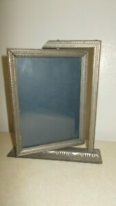 Antique stand alone carved wooden photo frame with movable part for photo $10.00