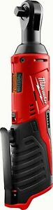 New Milwaukee M12 12 Volt 3/8 Inch Cordless Ratchet (Tool Only) # 2457-20