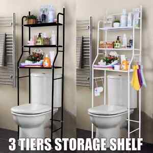 3 Tier Over Toilet Shelf Bathroom Space Saver Metal Towel Storage Rack Organizer