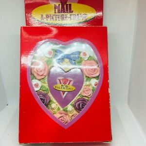 Vintage Be My Valentine's Day Postcard Mail a Picture Frame Rose Flower Gifts
