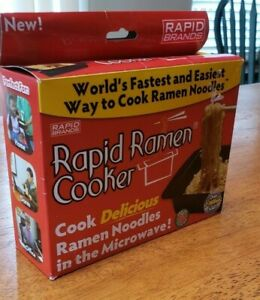 Rapid Ramen Cooker Microwave Ramen in 3 Minutes BPA Free and Dishwasher Safe