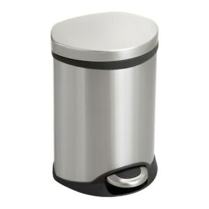 Safco Stainless-Steel Step-On Medical Waste Receptacle, 1.5 Gallon