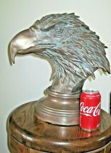 Large Statue Eagle Bust Sculpture 1 ft 4 in High antique bronze finish