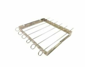 Revere Stainless Steel Shish Kabob Set With Folding Frame and 6 Skewers