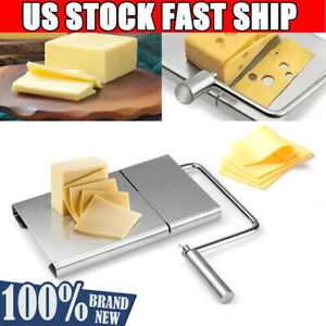 Cheese Butter Slicer Cutter Board Stainless Steel Wire Cutter Baking Home Tools