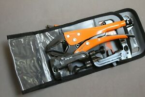 Grip-On Hands-Free Plier Kit with Carrying Pouch HK-Set4  043099905030