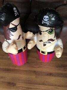2 X Inflatable Pirates Which Stay Upright