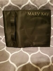 Mary Kay Travel Roll Up Bag Makeup Jewelry Organizer Black Hook