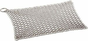 Stainless Steel Cast Iron Cleaner Chainmail Scrubber Made of - Medium (8