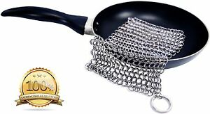 Stainless Steel Cast Iron Cleaner Chainmail Scrubber Medium (7
