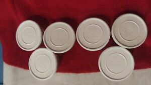 PAMPERED CHEF Glass Measuring Prep Bowls & Lids 3/4 -1 Cup Set of 6