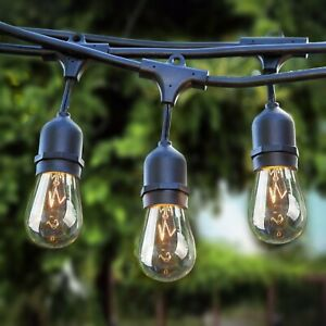 Sokani Patio Outdoor String Lights Weatherproof Commercial Grade Great 24FT 48FT
