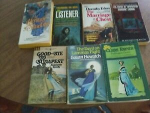Lot of 7 Vintage Gothic Romance Suspense PBS
