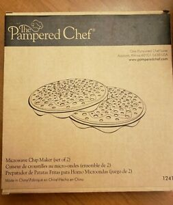 NEW Pampered Chef Microwave Chip Maker Set of 2 Potato Cook Snack