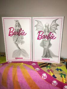 barbie gold label mermaid enchantress & dragon empress nib new