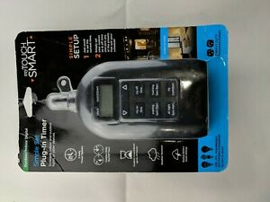 Jasco my Touch Smart Simple Set Indoor/Outdoor Digital Plug-In Timer NEW/SEALED