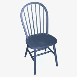 Basset Trading 014562 Spindle Back Windsor Chairs Set of 4 Farmhouse Black