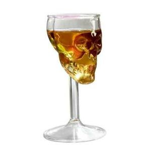 High Cup Whiskey Bottle Skull Head Crystal Glass Alcohol Vodka Wine Decanter JS