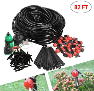 82FT Outdoor Misting Cooling System Garden Irrigation Water Mister Nozzles Set