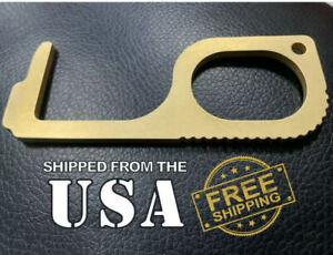 USA STOCK Copper Antimicrobial Door Opener Hook No Touch Safe Tool Avoid Germs