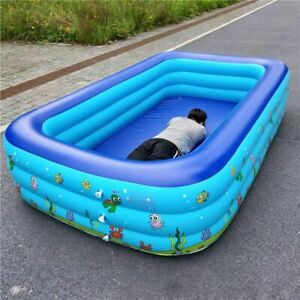 Inflatable Square Babys Basin Bathtub Kids Play Portable Outdoor Swimming Pool