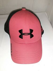 Under Armour Fitted Hat Red Black golf Hat Size Youth SM MD $11.30