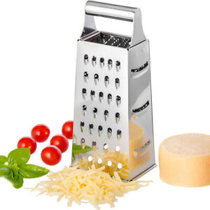 Stainless Steel Box Grater Multipurpose 4 Sided Graters for Vegetables Fruits