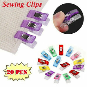 20PCS Plastic Sewing Clips Clamp for Craft Quilting Sewing Knitting Crochet $2.14