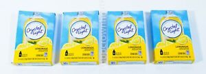 4 Packs of Crystal Light LEMONADE Drink Mix 16 On the Go Packets Total 08 2021 $10.75