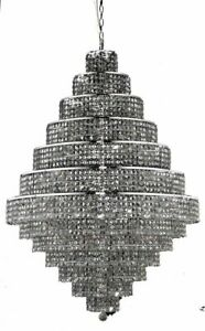 Elegant 2039G42C-SSSS Maxime 38 Light Chrome Chandelier Silver Shade (Grey)