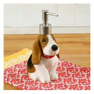 NEW The Pioneer Woman CHARLIE FIGURE Soap Pump Dispenser Basset Hound