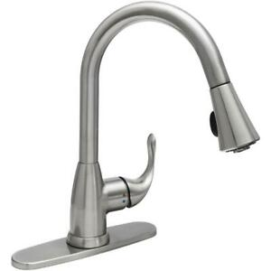 NEW GLACIER BAY Market Single-Handle Pull-Down Sprayer Kitchen Faucet in Stainle