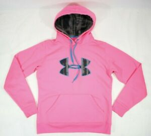 Under Armour Storm Printed Big Logo Hoodie Women's Pink Size Small $23.89