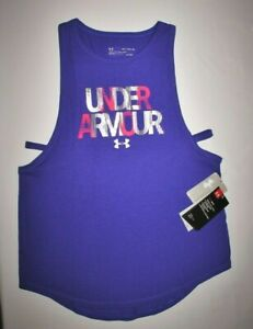 GIRLS UNDER ARMOUR TANK TOP..YOUTH X LARGE 18 20..HEAT GEAR...LOOSE FIT..NEW TAG $14.99