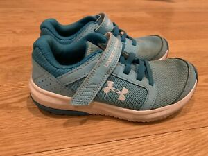 UNDER ARMOUR Little Girls No Tie ATHLETIC SHOES SIZE 12 RUNNING Shoes $15.50