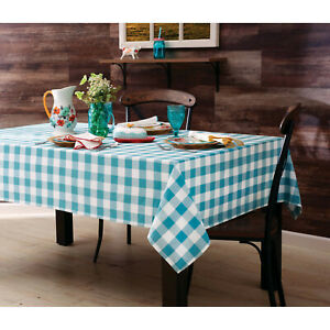 The Pioneer Woman Charming Check Fabric Tablecloth, 60