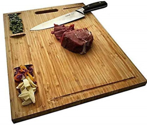 Kitchen Large Bamboo Wood Cutting Board Butcher Block Chopping Cheese Carving